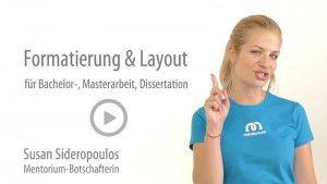 dissertation formatierung layout