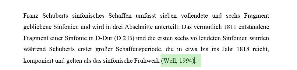 Literaturverzeichnis in Word, Abb. 5