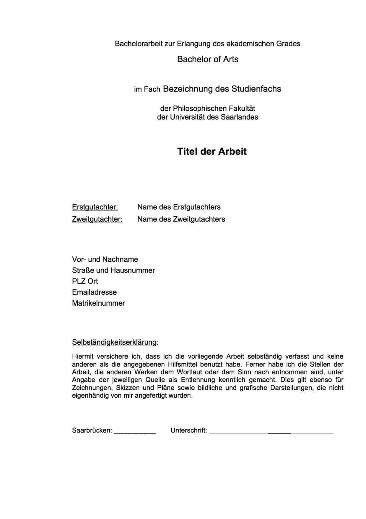 Master thesis saarland