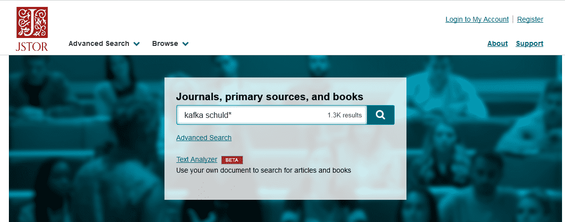 Ein beliebtes Online-Archiv: JSTOR