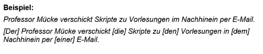 Beispiel Professor Mücke