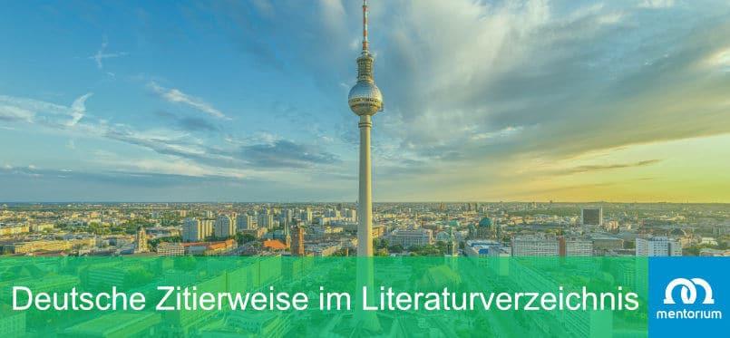 Deutsche Zitierweise im Literaturverzeichnis