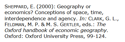 Beispiel für den Literaturverzeichniseintrag eines Aufsatzes aus einem Sammelband