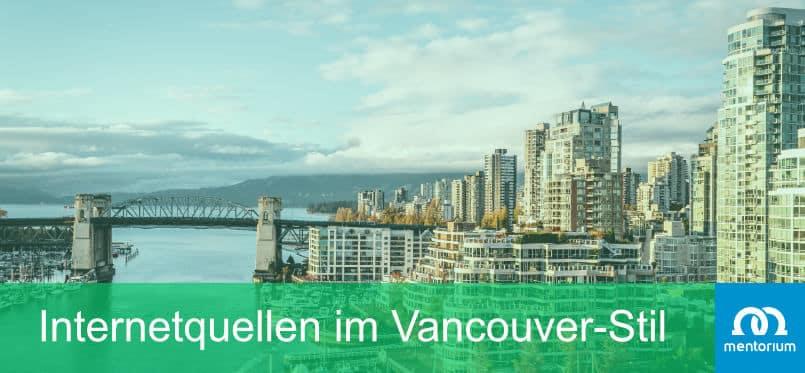 Internetquellen im Vancouver-Stil
