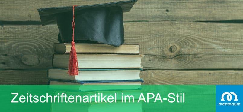 Zeitschriftenartikel im APA-Stil