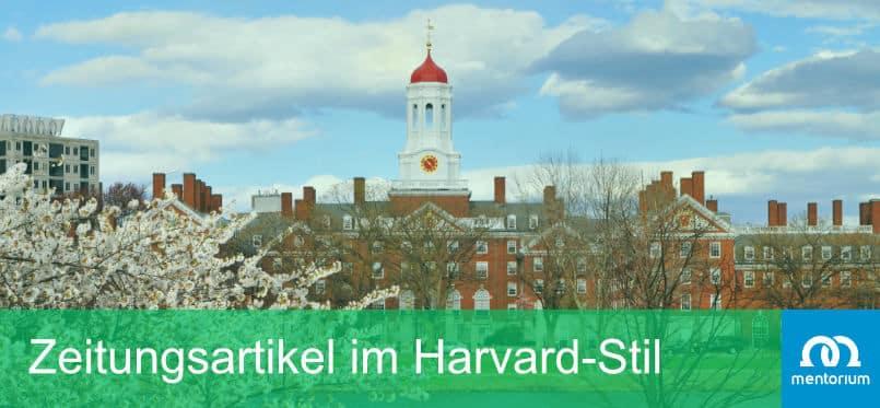 Zeitungsartikel im Harvard-Stil