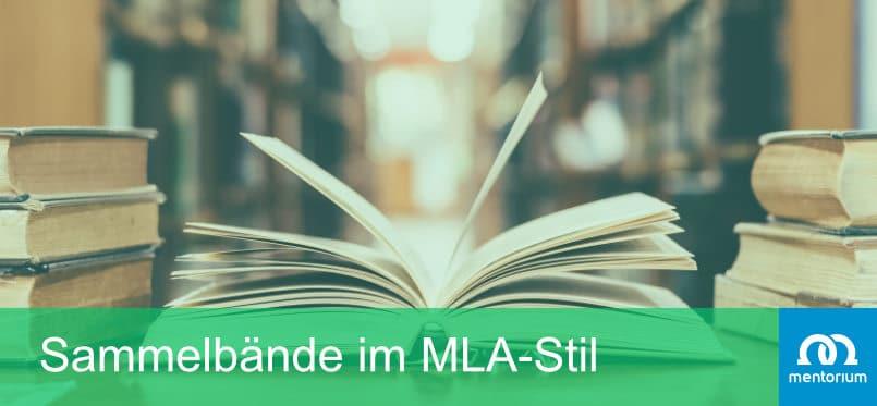 Sammelbände nach MLA-Style zitieren
