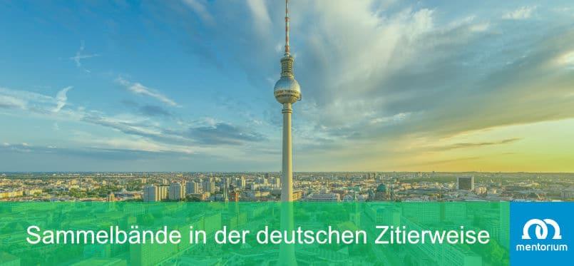 Sammelbände in der deutschen Zitierweise zitieren