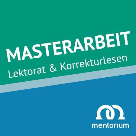 Chemnitz Lektorat Korrekturlesen Masterarbeit