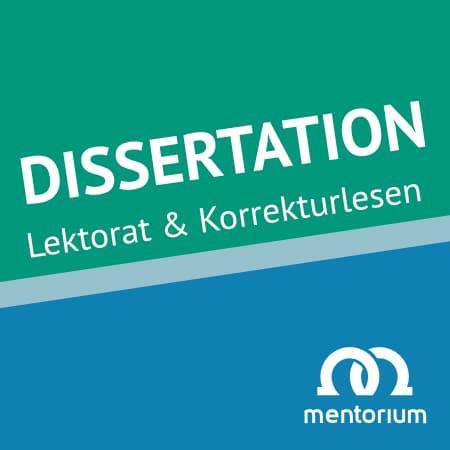 Tübingen Lektorat Korrekturlesen Dissertation