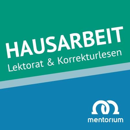Tübingen Lektorat Korrekturlesen Hausarbeit