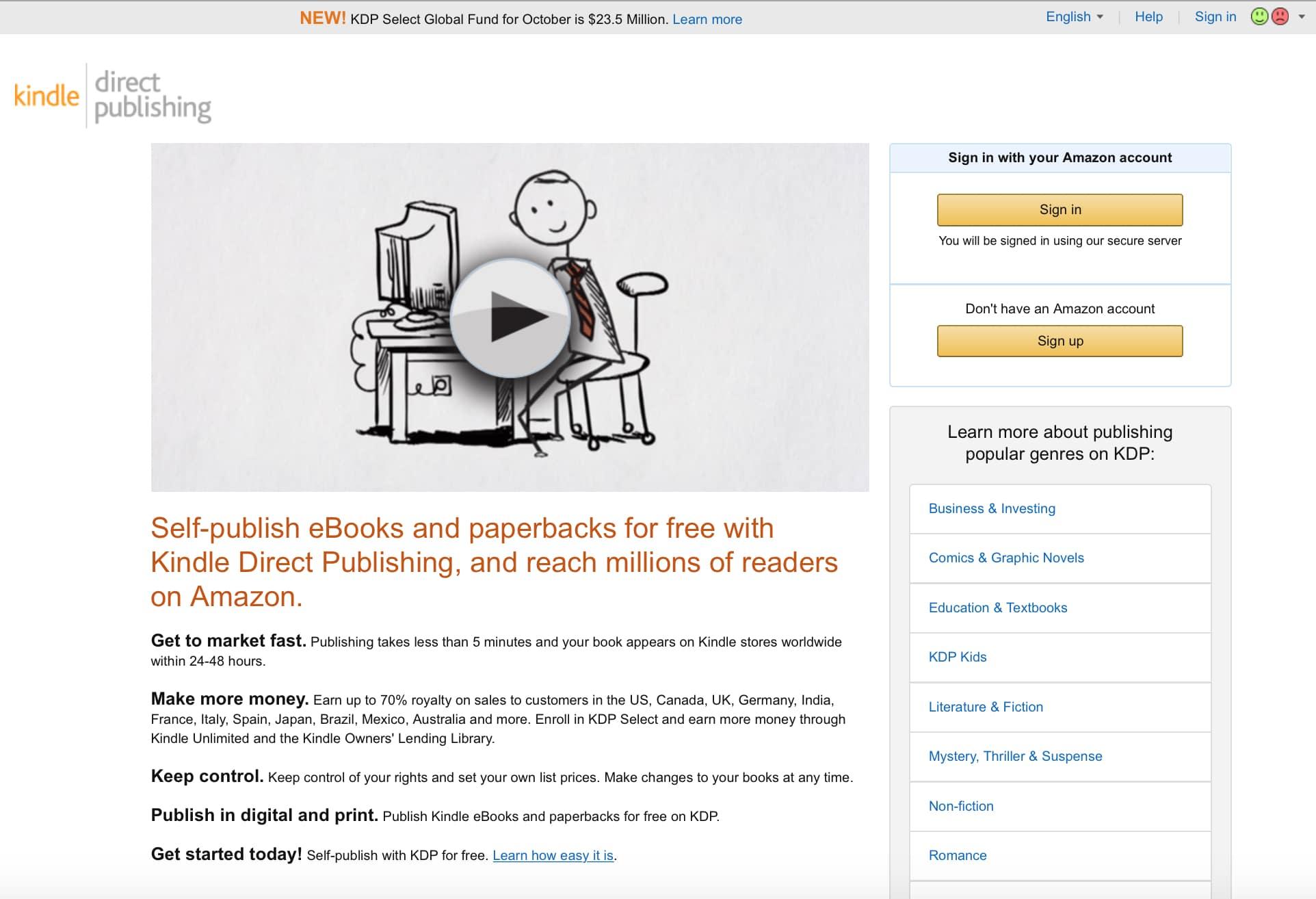 Abbildung 1: Buch schreiben mit Amazon KDP
