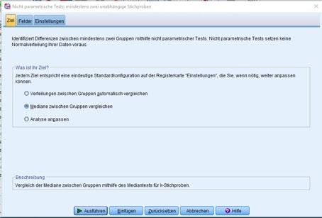 """Register """"Ziel""""/unabhängige Stichproben"""