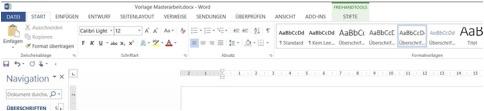 Inhaltsverzeichnis Facharbeit