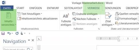 Beispiel für ein automatisch erzeugtes Inhaltsverzeichnis