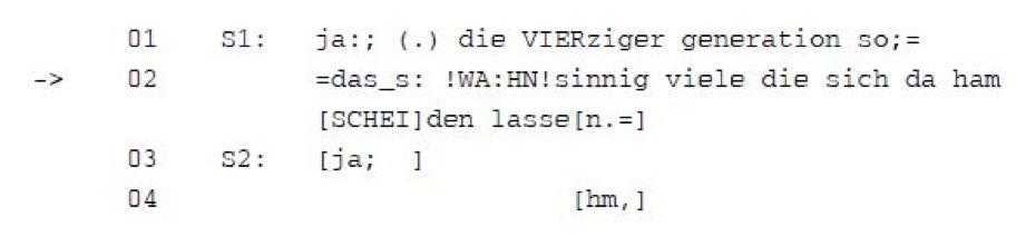 Beispiel für ein Basistranskript