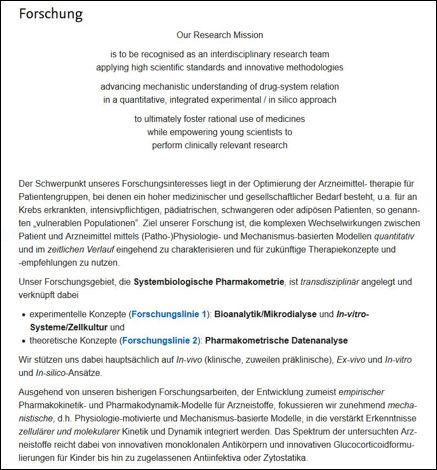 Einführung in die aktuelle Forschung der Klinischen Pharmazie