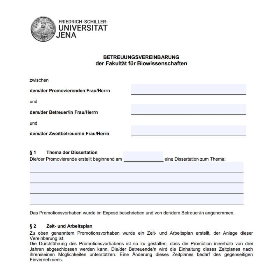 In einer Betreuungsvereinbarung werden die Einzelheiten der Zusammenarbeit festgelegt