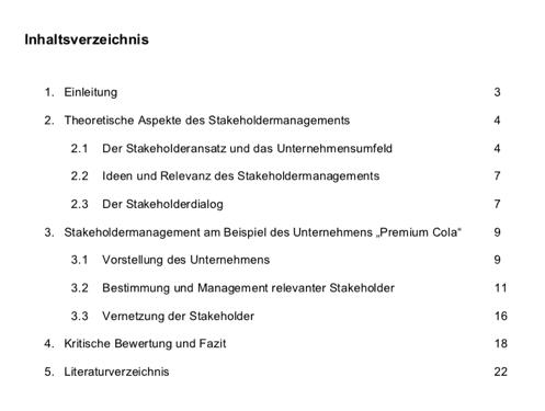 Abb. 4: Inhaltsverzeichnis HA