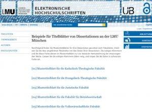 Deckblatt der Dissertation Beispielexemplare