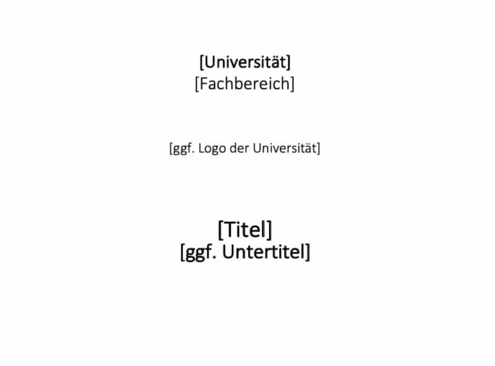 Deckblatt Dissertation Vorlage PDF zum Herunterladen