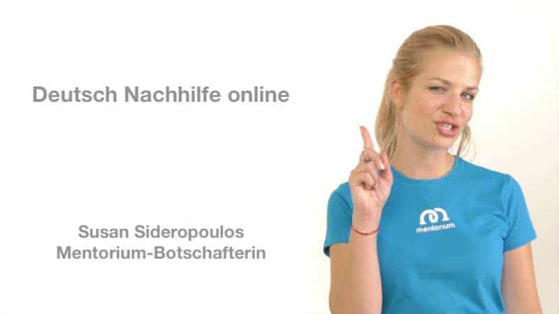 Deutsch Nachhilfe online – unterstützt von Susan